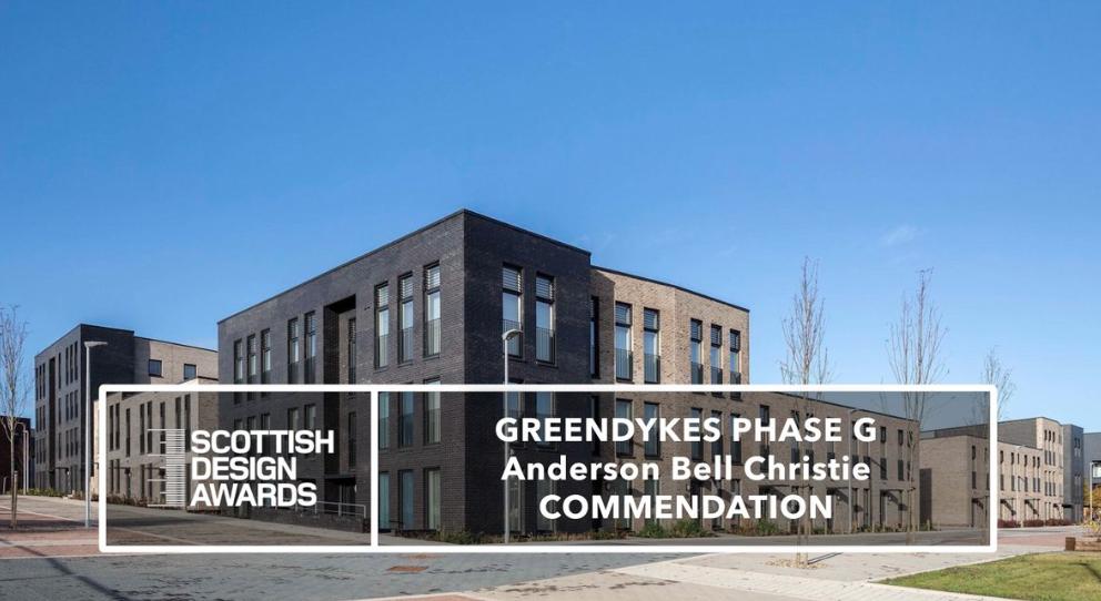 Scottish Design Awards Commendation for Greendykes Phase G